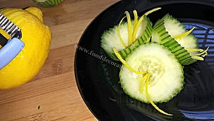 Vegetable /cucumber garnish