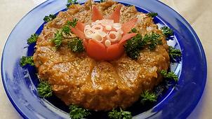 Eggplant fried paste (caviar) Snack, appetizer