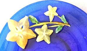 Fruit garnish / starfruit decoration