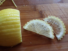Step by step lemon garnishing / fruit decorating