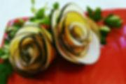 Vegetable Decorations / Black radish garnish