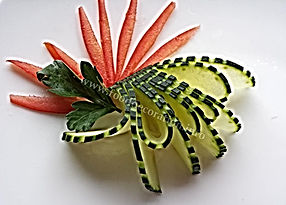 Food decorations / Cucumber garnish