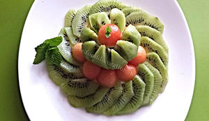 Food decoration / Kiwi Fruit / fruit garnish
