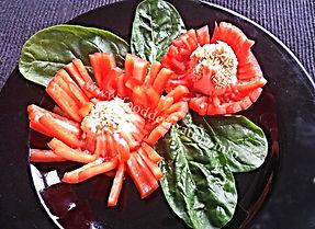 Vegetable Decoration / Pepper garnish