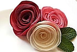 Turnip garnish / food decorations