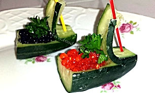 Cucumber Garnish / food decorations