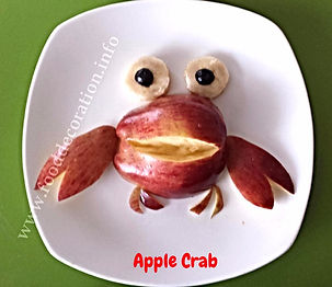 Food decoration for kids / fruit garnish /apple