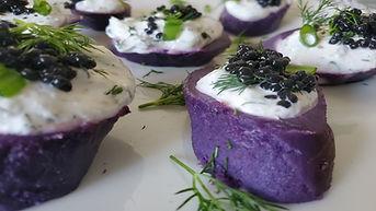 Buffet style appetizer Purple Temptatiom