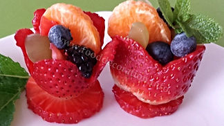 Fruit  garnish / strawberry  food decoration