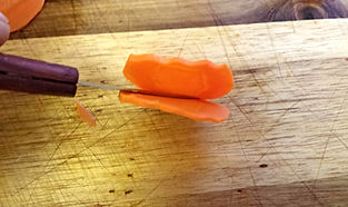 Vegetable garnishing /carrot