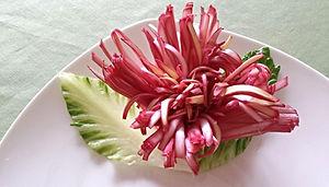 leek garnish / food decoration
