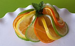 Food decoration / Citrus Garnish