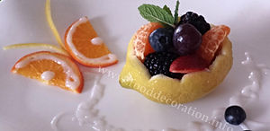 Fruit decoration / lemon garnishing