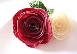 Food decorations / Turnip Roses