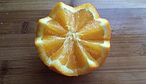 Orange garnishing