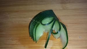 Step y step cucumber garnishing