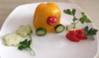 food for kids,vegetable decorations for kids, garnish for kids, fun food for kids