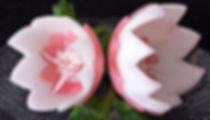 Food decoration from onion / vegetable garnish