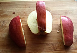 step by step apple garnishing