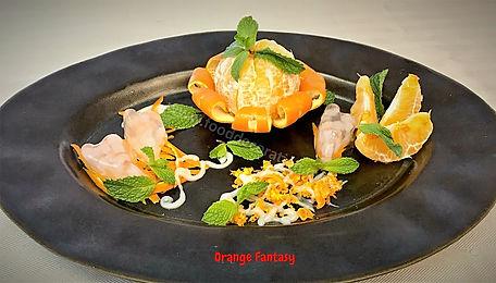 Orange Dessert Presentation