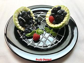 Fruit Dessert Presentation