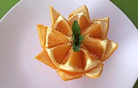 Orange food decoration / Orange garnish