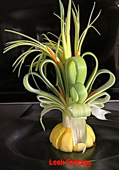 Vegetable decoration, leek decorations