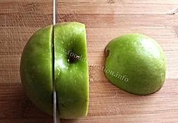 Fruit decorating  /food garnishing  with apple