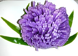 Garnish from turnip / Food decoration