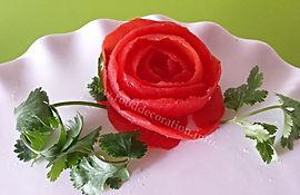 Food decoration / tomato garnish