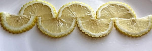 Lemon garnish / fruit decoration