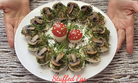 Stuffed Eggs with mishrooms