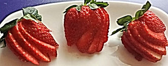 Strawberry garnish / Food decorations