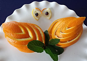 Fruit decoration / orange garnish