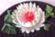 Vegetable decoration / onion garnish