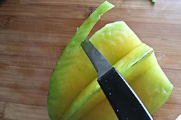 Step by step garnishing with starfruit