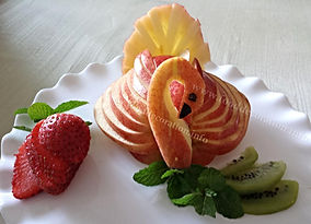 Food decoration / fruit garnish /apple
