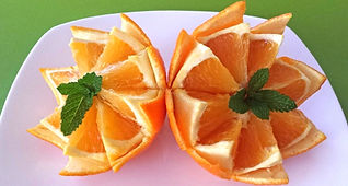 Orange decorations / fruit decorations
