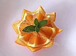 Food decoration / Orange Garnish
