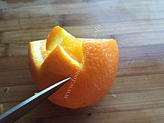 Fruit garnishing / orange decorating