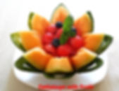 Fruit presentation /melon basket
