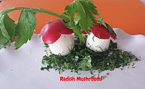 Vegetable garnishing for kids / radish for kids