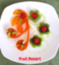 Fruit presentation  food decorating