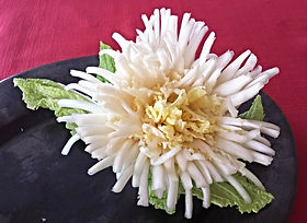Cabbage flower / food decoration/ garnish