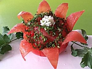 tomato garnish / food decoration from tomato
