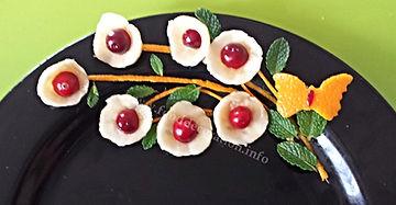 Food decoration / Banana  garnish