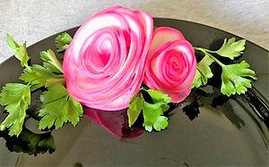 Vegetable decorating / vegetable garnish