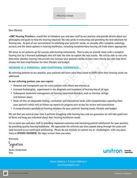 UPHYREFLET - Referral Letter