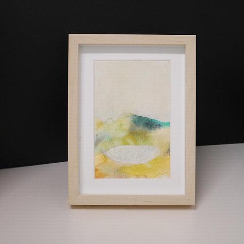 mari iwamoto 手描きポストカード「水たまり」(フレーム入り)