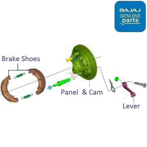 Rear drum brake shoe for Discover